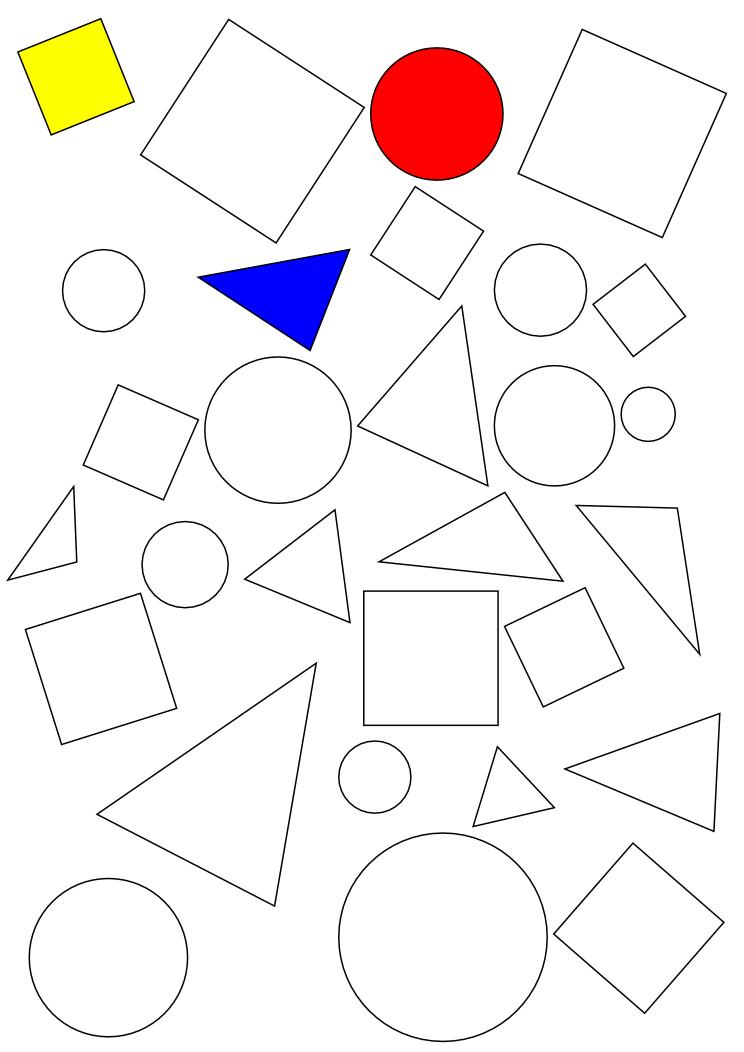 G om trie cp reconnaissance de formes 1 des outils - Coloriage des formes geometriques ...